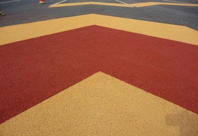 彩色陶瓷颗粒防滑路面17