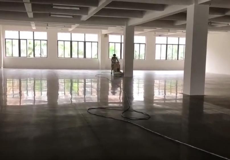 密封固化地坪视频